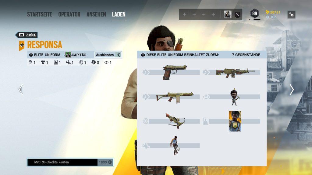 Rainbow Six Siege Elite Skins Capitao Zusatz