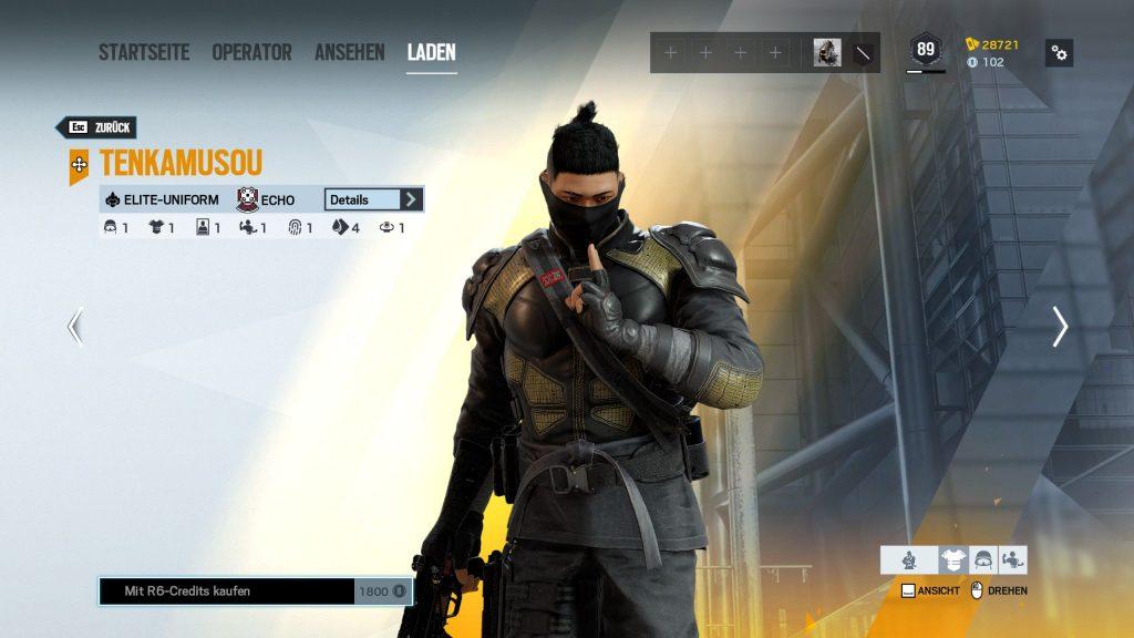 Rainbow Six Siege Elite Skins Echo