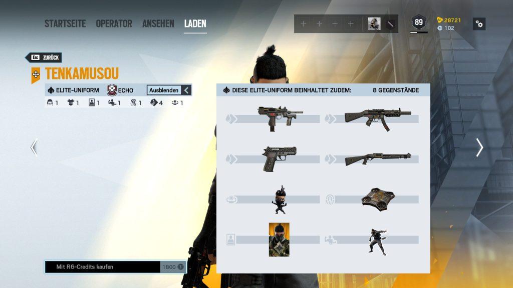 Rainbow Six Siege Elite Skins Echo Zusatz