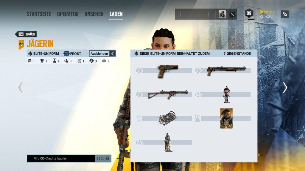 Rainbow Six Siege Elite Skins Frost Zusatz