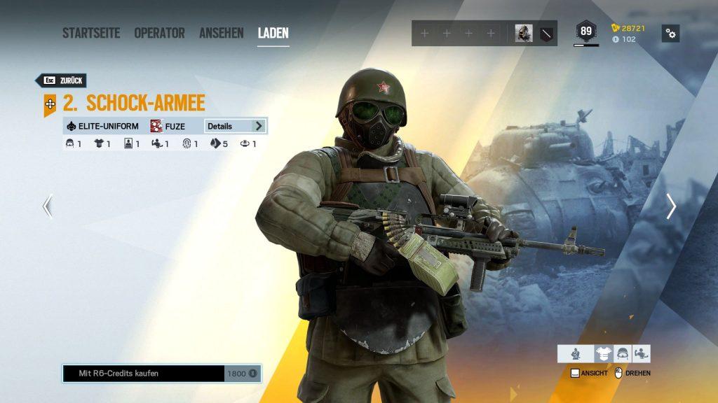 Rainbow Six Siege Elite Skins Fuze