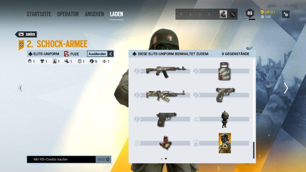 Rainbow Six Siege Elite Skins Fuze Zusatz