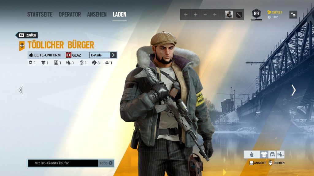 Rainbow Six Siege Elite Skins Glaz