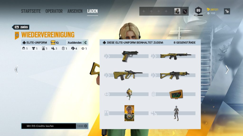 Rainbow Six Siege Elite Skins IQ Zusatz