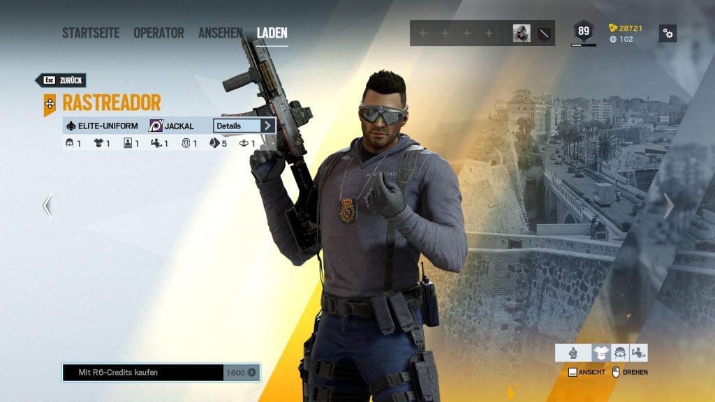 Rainbow Six Siege Elite Skins Jackal