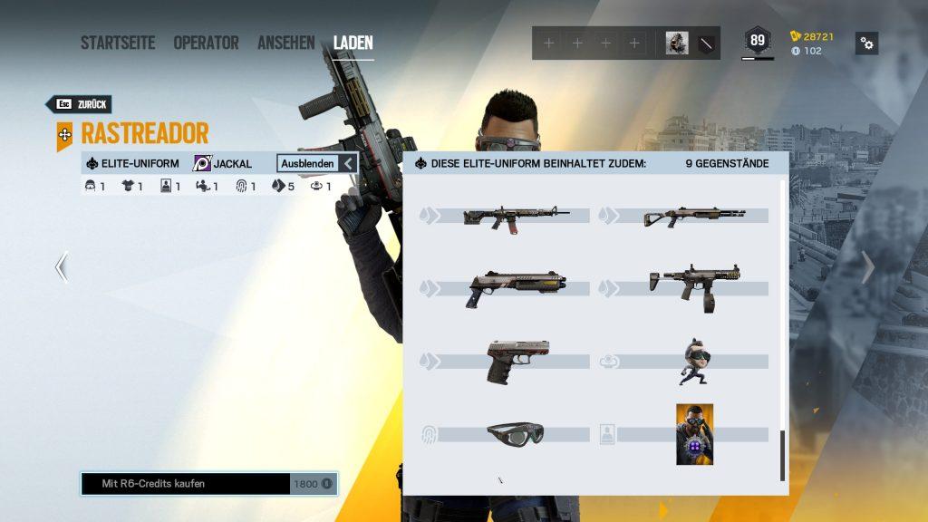 Rainbow Six Siege Elite Skins Jackal Zusatz