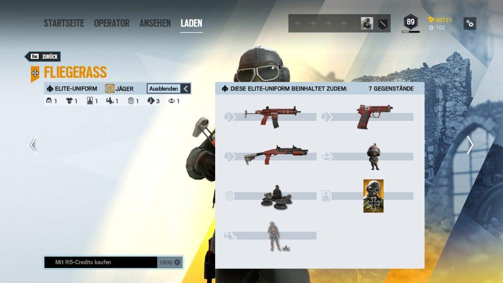 Rainbow Six Siege Elite Skins Jäger Zusatz
