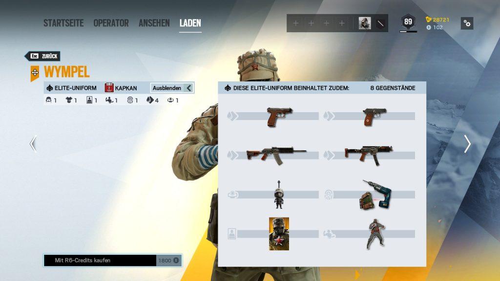 Rainbow Six Siege Elite Skins Kapkan Zusatz
