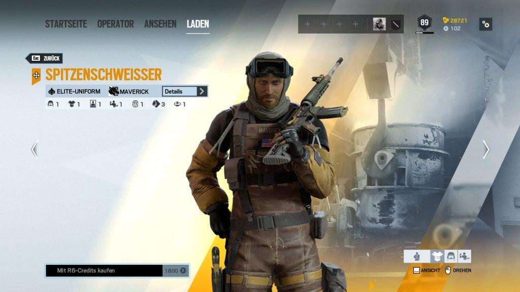 Rainbow Six Siege Elite Skins Maverick