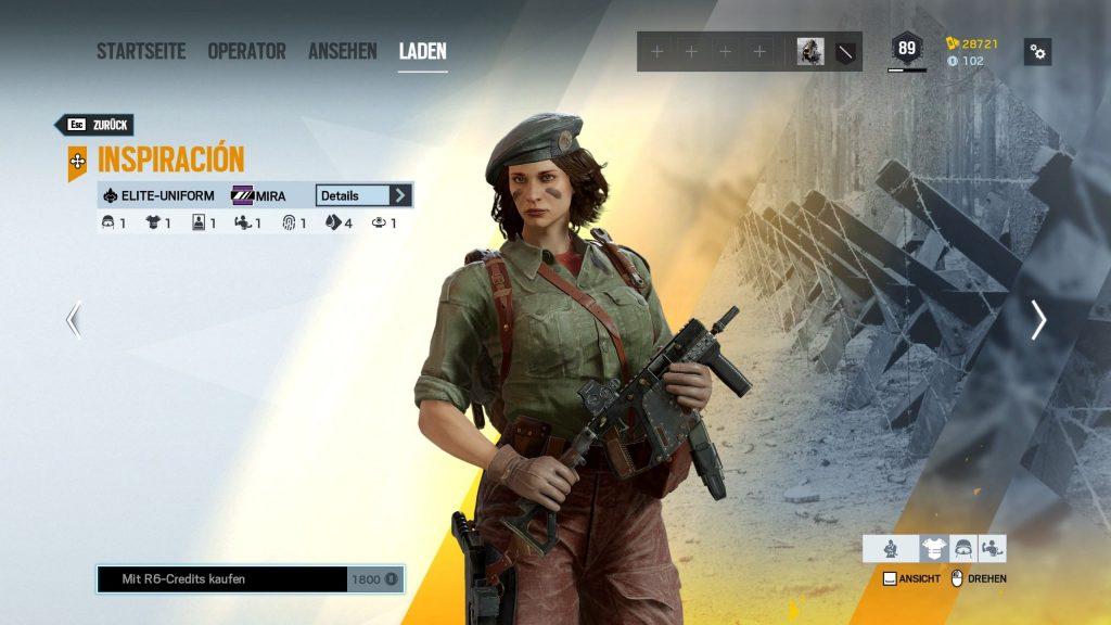 Rainbow Six Siege Elite Skins Mira