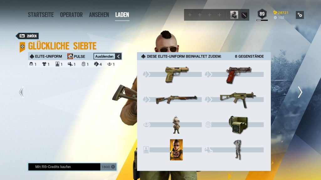 Rainbow Six Siege Elite Skins Pulse Zusatz