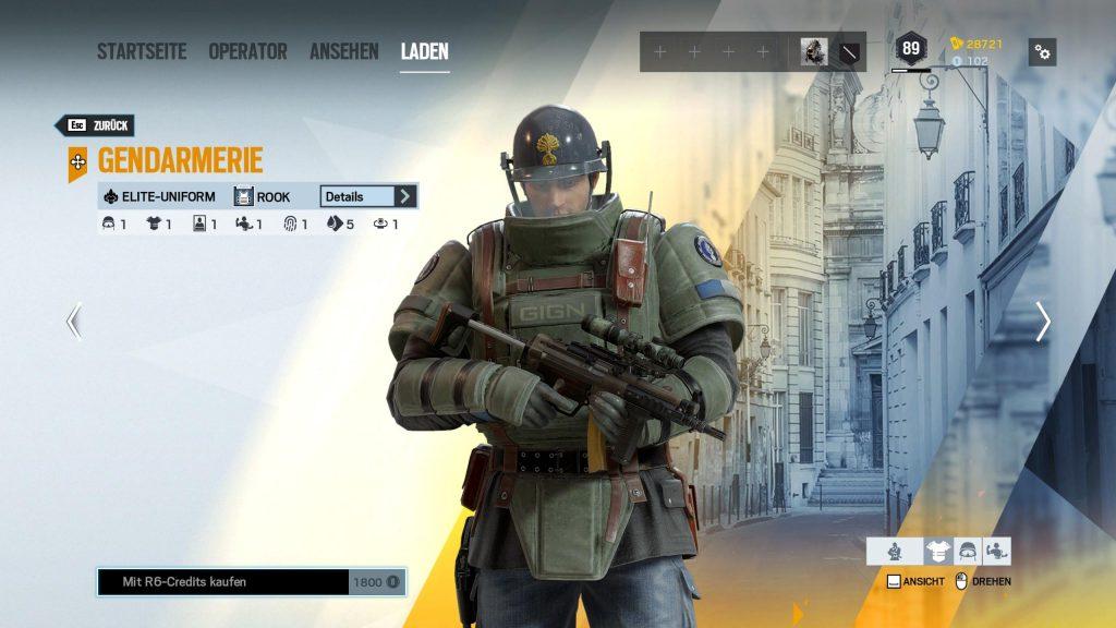 Rainbow Six Siege Elite Skins Rook