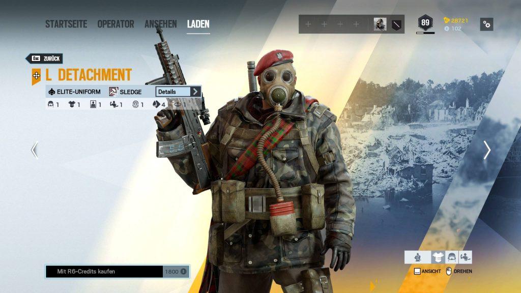 Rainbow Six Siege Elite Skins Sledge