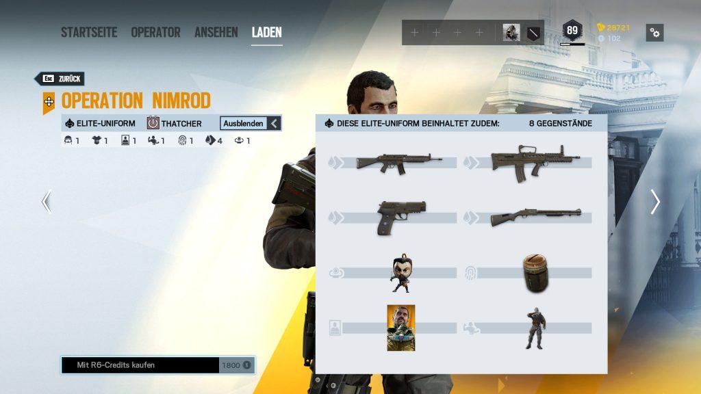 Rainbow Six Siege Elite Skins Thatcher Zusatz