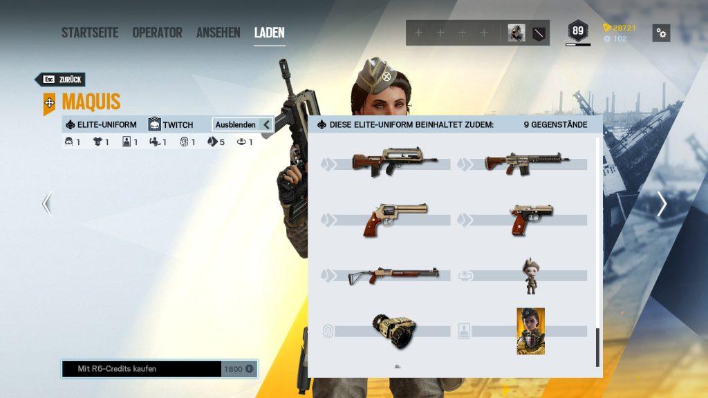 Rainbow Six Siege Elite Skins Twitch Zusatz