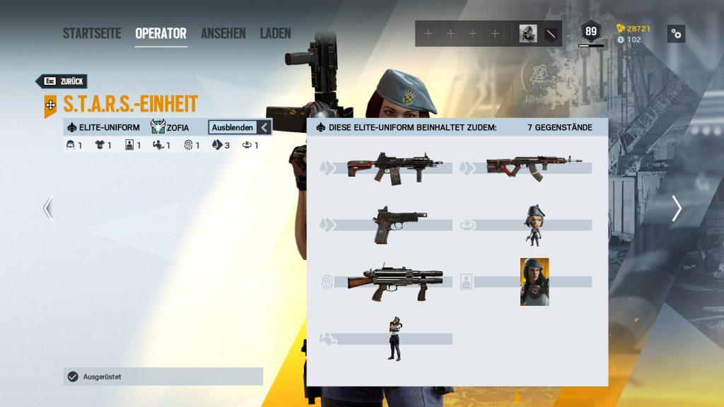 Rainbow Six Siege Elite Skins Zofia 2 Zusatz