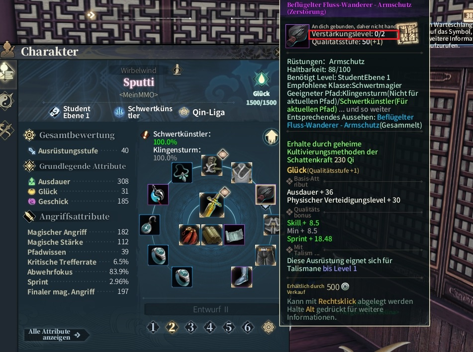 Swords of Legends Ausrüstung