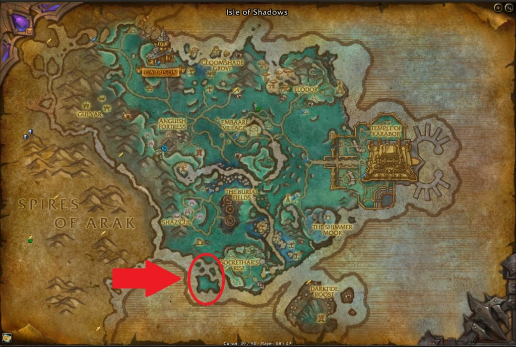 WoW Many faces coin Farm Spot Map