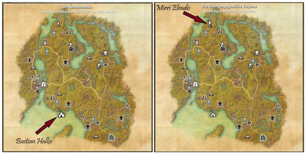 ESO Gefährten Quest Map