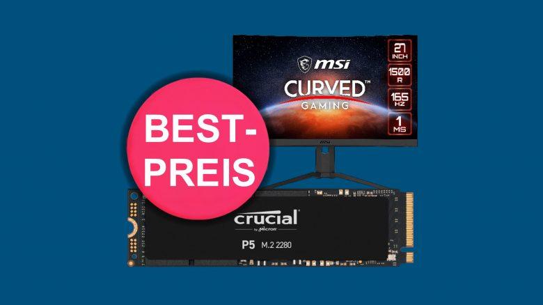 Schnelle Crucial P5 SSD zum absoluten Bestpreis und mehr bei Cyberport