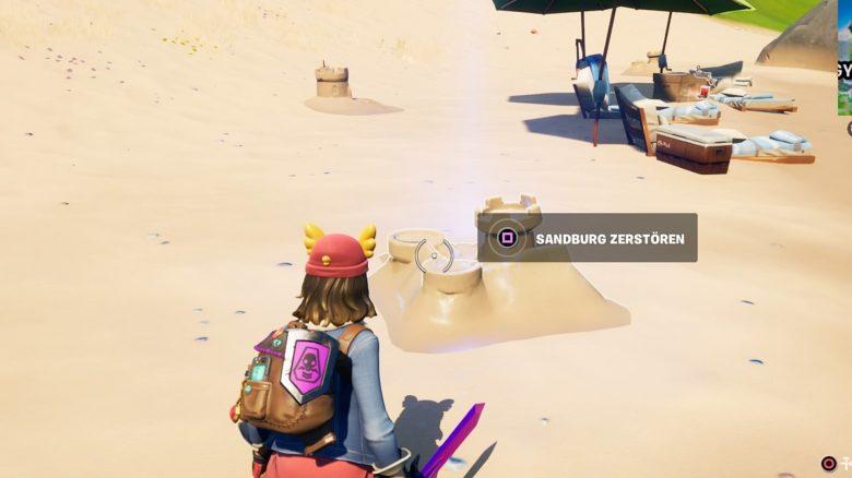 Fortnite: So zerstört und baut ihr Sandburgen – Alle Fundorte auf der Map