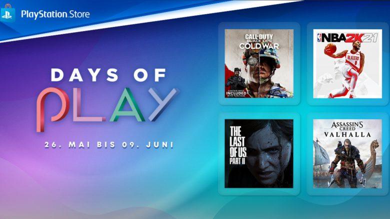 Days of Play im PS Store: Bis zu 80% Rabatt auf viele PS4-Hits und Blockbuster