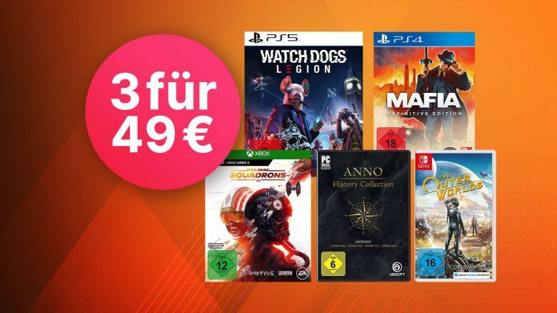 Saturn 3-für-49 Euro: Spiele für PC, PS4, PS5, Switch & Xbox im Angebot