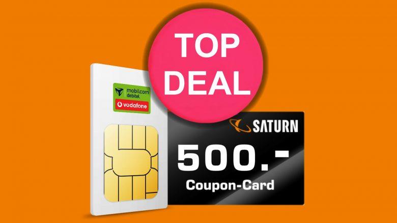 Saturn mit Hammerangebot: 500-Euro-Gutschein zum LTE-Tarif dazu