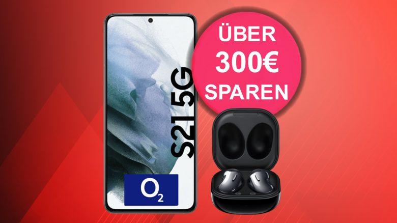 Galaxy S21 mit 60 GB LTE, Flatrate und Ear Buds günstig bei MediaMarkt