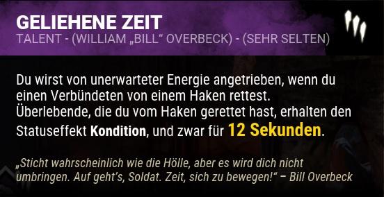 Dead by Daylight Geliehene Zeit Perk
