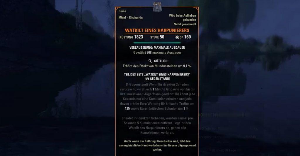 ESO Watkilt eines Harpunierers