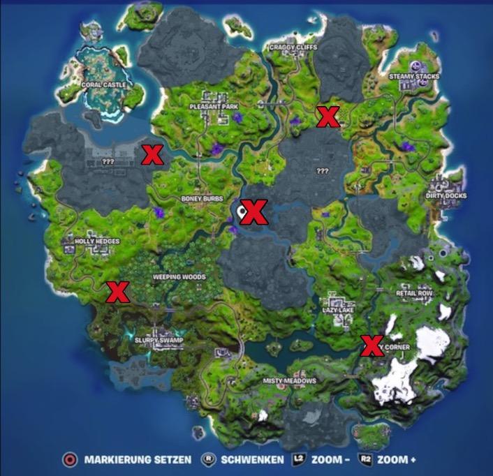 Fortnite Alien Artefakt Map