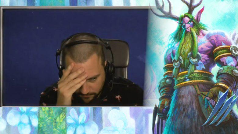 Hearthstone Druid Shoutcaster frustriert