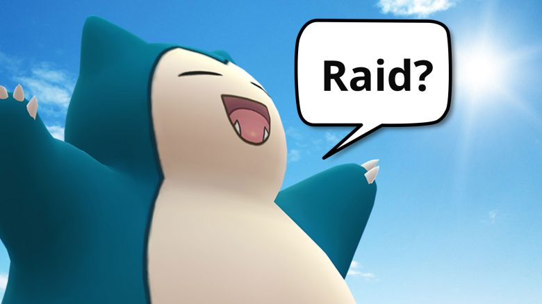 Pokémon Go-Relaxo mit Sprechblase