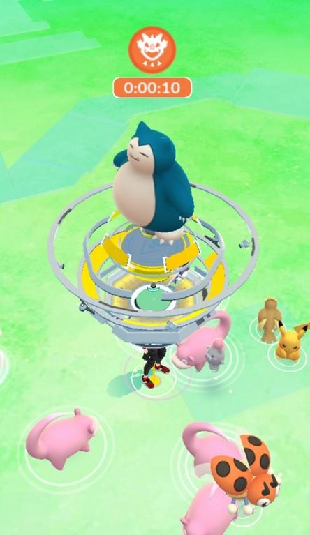 Pokémon GO Arena Relaxo Raid