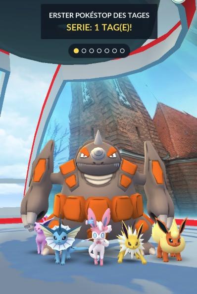Pokemon GO Arena Evoli