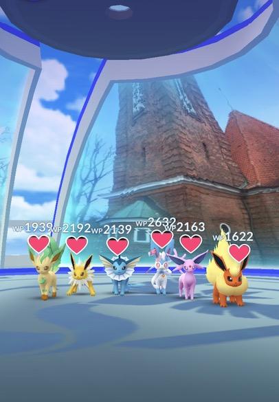 Pokemon go evoli arena
