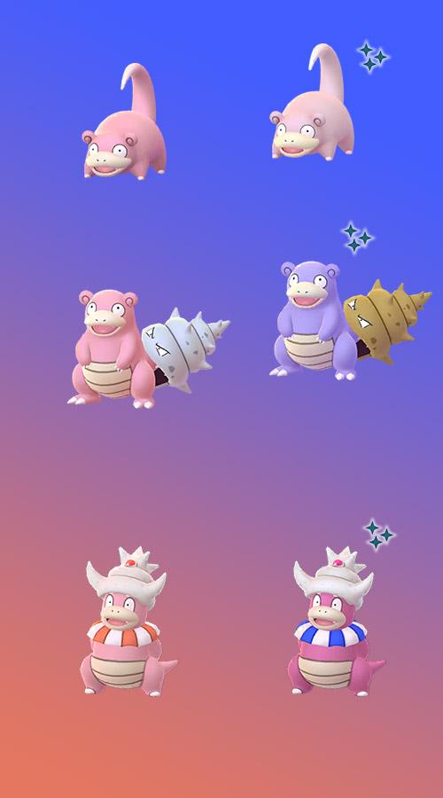 Pokémon GO Flegmon Shiny Familie