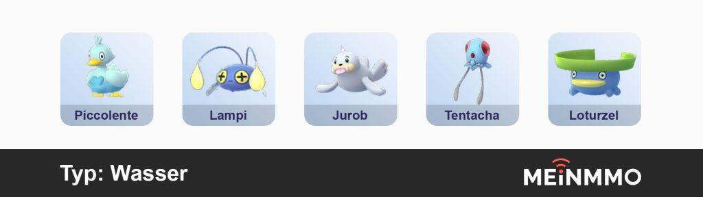 Pokemon Go PVP-Empfehlung Wasser