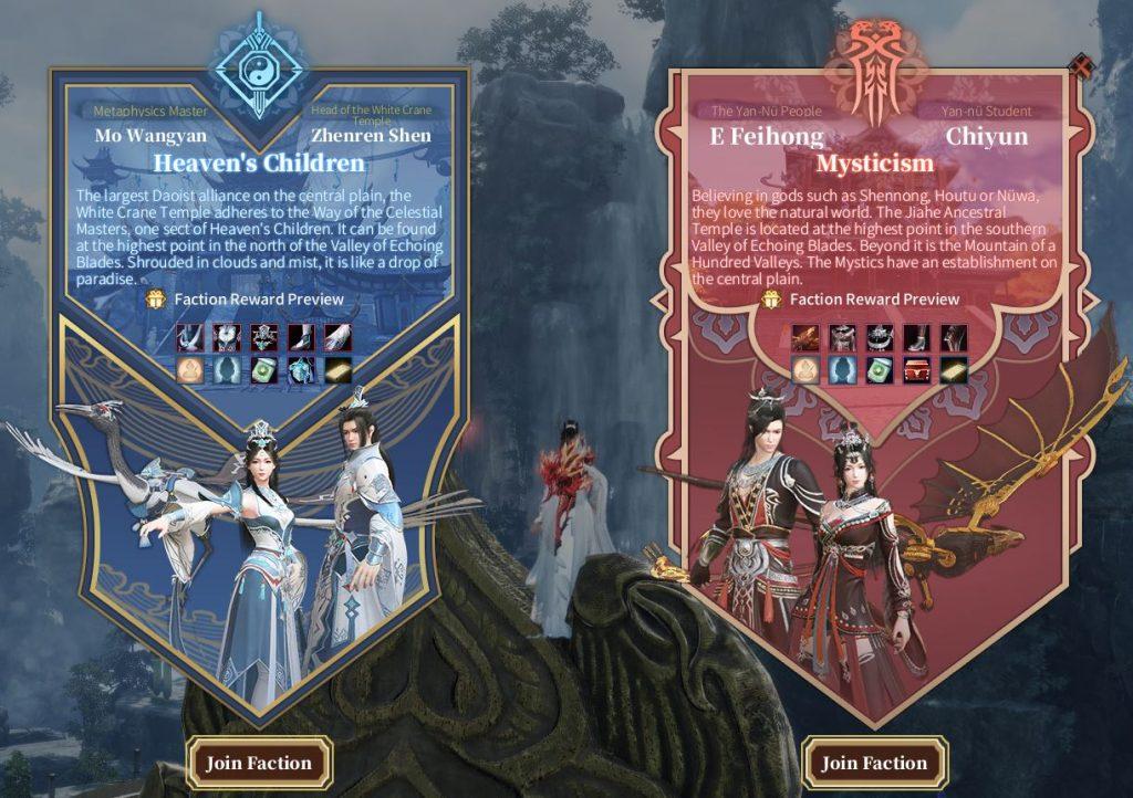 Swords of LegendsPvP Fraktionen