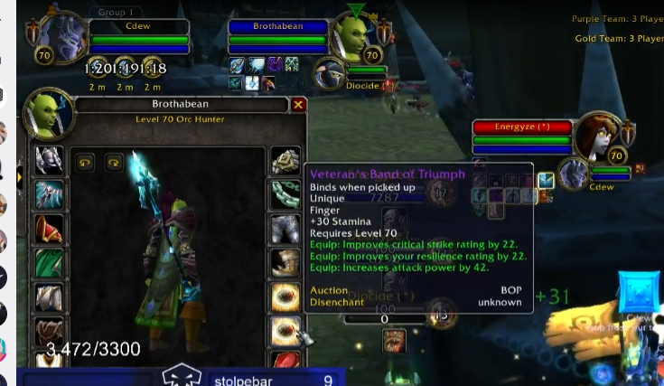 WoW Classic PvP Items Bean