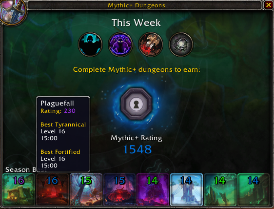 WoW Mythic Plus Rating