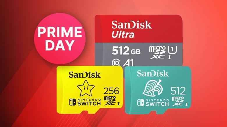 Amazon Prime Day Angebot: Nintendo Switch Speicherkarten zum Bestpreis