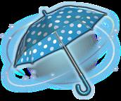 ffxiv blau-weiß gepunkteter sonnenschirm