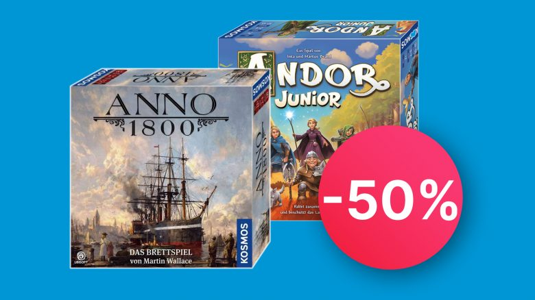 Brettspiele am Prime Day: Anno 1800, Andor Junior und Catan