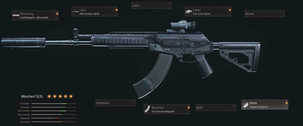 cod warzone beste kd setups cr-56 amax