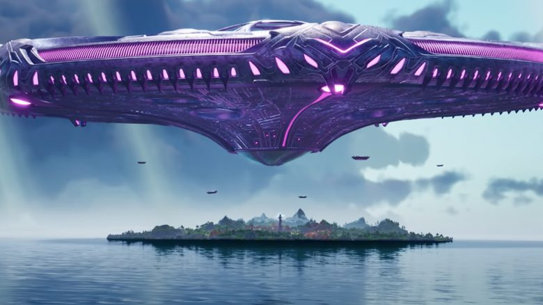 fortnite riesiges ufo trailer titel