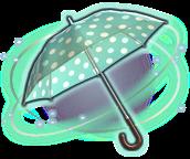 ffxiv hellblau-weiß gepunkteter sonnenschirm