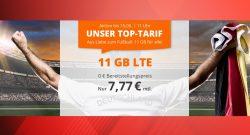 Günstiger Handyvertrag mit 11GB LTE aktuell für nur 7,77 Euro mtl. zur EM