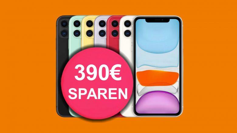 Apple iPhone 11 mit Flatrate und 60 GB LTE aktuell günstig bei Saturn.de